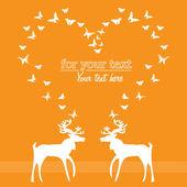 Reindeer love — Stock Vector