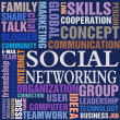 Vettoriale Stock : Social networking