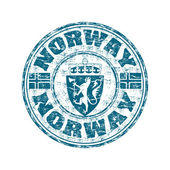 Norway grunge rubber stamp — Stock Vector