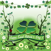 Four leaf clover for Saint Patrick's Day — Stock Vector