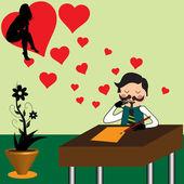 A carta de amor — Vetorial Stock