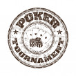 Stock Vector: Poke tournament grunge rubber stamp