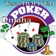 Texas holdem poker tournament — Stock Vector