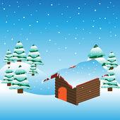 Saluto l'inverno — Vettoriale Stock