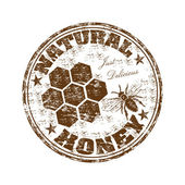 天然蜂蜜ゴム印 — ストックベクタ