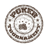 Poke tournament grunge rubber stamp — Stock Vector