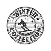 Winter collection rubber stamp — Stock Vector