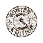 Winter edition rubber stamp — Stock Vector