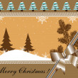 Brown Christmas card — Stock vektor #27629009