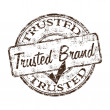 Trusted brand grunge rubber stamp — Stock Vector