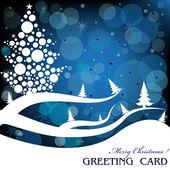 Tarjeta de navidad azul — Vector de stock