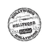 Hollywood grunge rubber stamp — Stock Vector