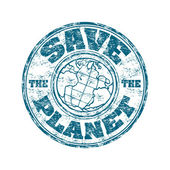Save the planet rubber stamp — Stock Vector