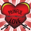 Painful love — Stockvectorbeeld
