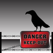 Danger keep out — Stock Vector