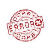 Error rubber stamp — Stock Vector