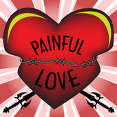 Painful love — Stock Vector