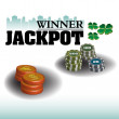 Stock Vector: Jackpot winner