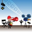 Vector de stock : Movie director