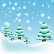 Snowy weather — Stock Vector