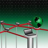 コンピュータ ネットワーク — ストックベクタ