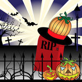 Halloween headstone — Stock Vector