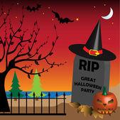 Lapide di halloween — Vettoriale Stock