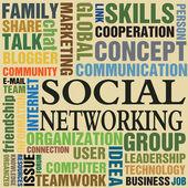 Social networking — Stock Vector