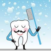 Happy tooth — Stock Vector