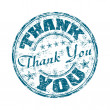 Thank you rubber stamp — Stock Vector