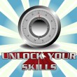 Unlock your skills — Vettoriali Stock