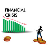 Financial crisis design — Stock Vector