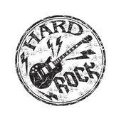 Hard rock grunge rubber stamp — Stock Vector