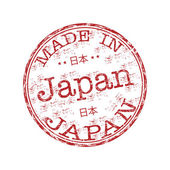 Gemaakt in japan grunge rubber stempel — Stockvector