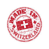 Made in Switzerland rubber stamp — Stock Vector