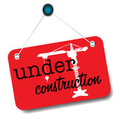 Under construction plate — Stock Vector