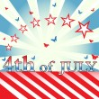 Fourth of July theme — Stock Vector