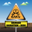 Danger radiation risk — Stock Vector