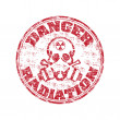 Danger radiation rubber stamp — Stock Vector #28664153