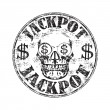 Jackpot grunge rubber stamp — Stockvectorbeeld