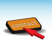 Botón de contacto — Vector de stock