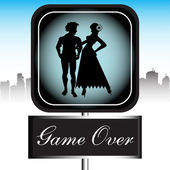 Game over sign — Stock Vector