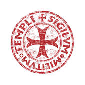 Templar rubber stamp — Stock Vector