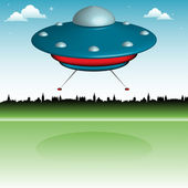 Unidentified flying object — Stock Vector