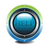 Botón de ayuda — Vector de stock