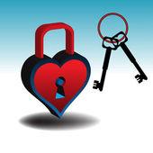 Padlock and keys — Stock Vector
