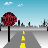 Stop signpost — Stock Vector