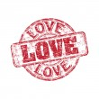 Love grunge rubber stamp — Stock Vector