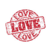 Love grunge rubber stamp — Stock vektor