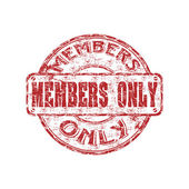 Members only grunge rubber stamp — Stock Vector